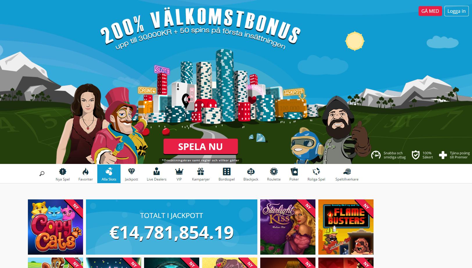 SpinLand - 35 000 kr i bonus + 200 free spins